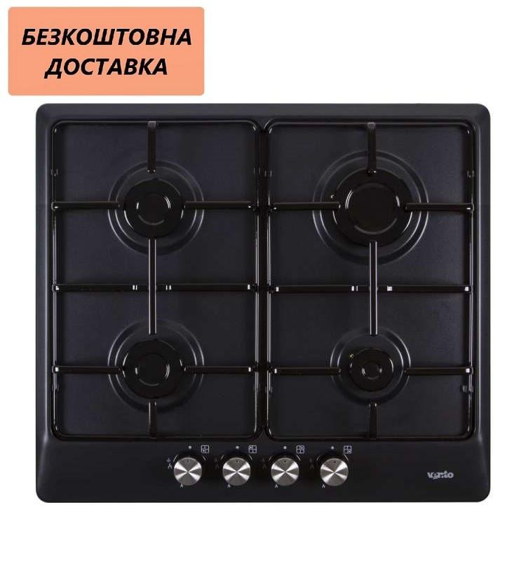 Варочная поверхность встраиваемая Ventolux HG640 B2 S (AN) Газовая на эмали, Матовая черная