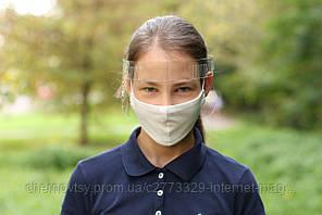 Защитная маска - очки с перфорацией, размер регулируется.