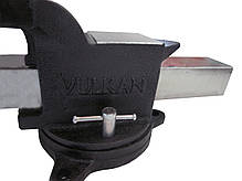Тиски Vulkan MPV1-100 слесарные поворотные 100 мм, фото 3