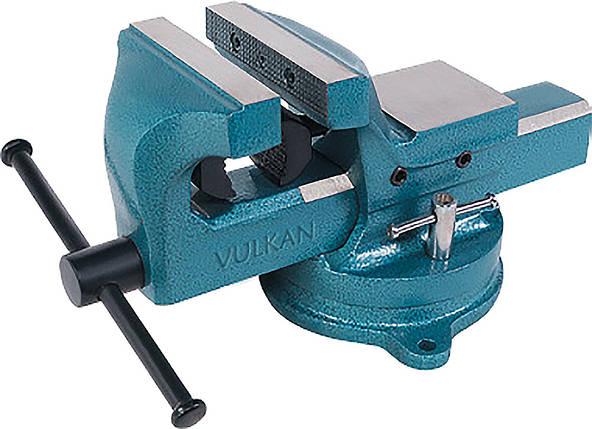 Тиски Vulkan MPVS-125 слесарные поворотные 125 мм, фото 2
