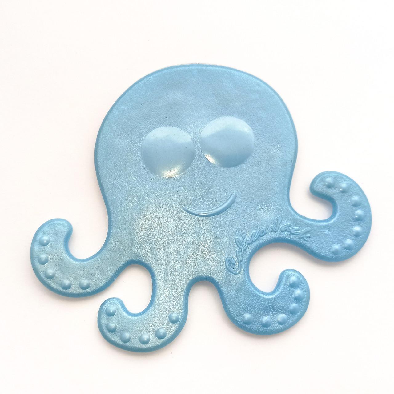 Наклейка в ванную на присосках Медуза Голубая