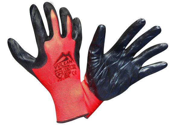 Перчатки защитные Vulkan SFG20007 Вампир, черно-красные, фото 2