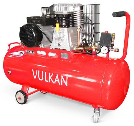Компрессор воздушный VULKAN IBL 2070Y ременной 100L 2,2 кВт, фото 2