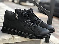 Зимние ботинки мужские Кожаные Prime 70162 ч/н размеры 40,41,42,43,44,45, фото 1
