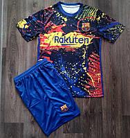 Футбольная форма Барселона тренировочная синяя 2020-2021, фото 1