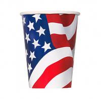 Стаканчики Флаг США 8шт/уп 43746