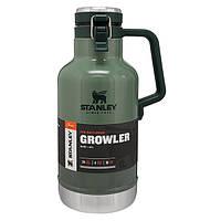 Термос для пива Stanley Easy-Pour Growler Hammertone Green 1,9 л. Оригинал!, фото 1