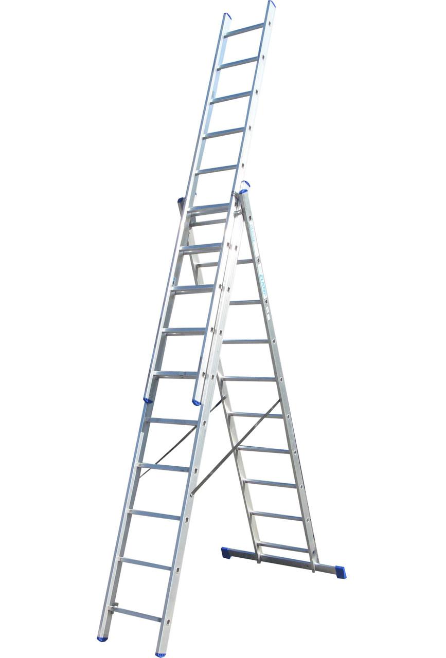 Лестница ELKOP VHR Hobby 3x10 алюминиевая, 3 секции, 10 ступеней