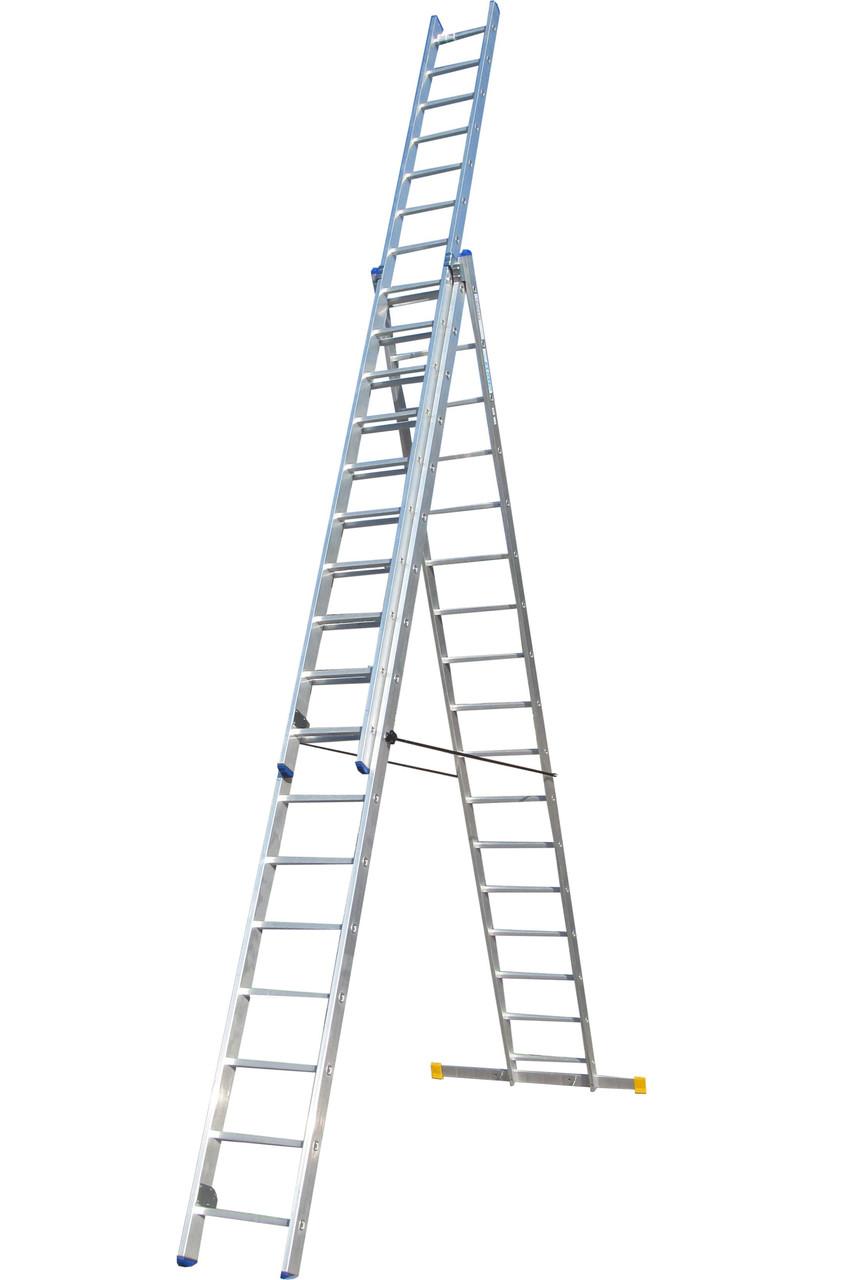 Лестница ELKOP VHR Profi 3x17 алюминиевая, 3 секции, 17 ступеней
