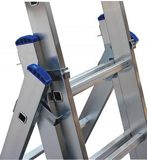 Лестница ELKOP VHR Profi 3x17 алюминиевая, 3 секции, 17 ступеней, фото 2
