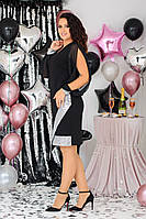 Красивое женское платье батал с 48 по 58 рр трикотаж Алекс + шифон