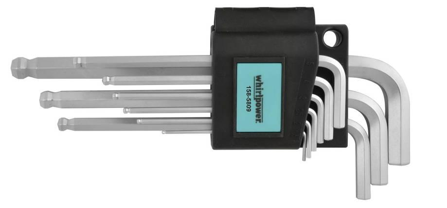 Набор ключей-шестигранников HEX Whirlpower 158-5809 с шаром, 9 ед., фото 2