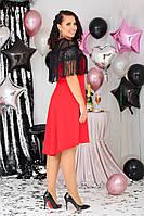 Вечернее женское платье батал с 48 по 58 рр трикотаж + сетка