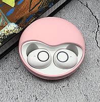 Беспроводные наушники bluetooth гарнитура Wi pods K10 наушники с микрофоном оригинал розовые