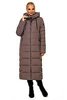 Зимняя теплая куртка макси на био пухе, разные цвета, фото 1