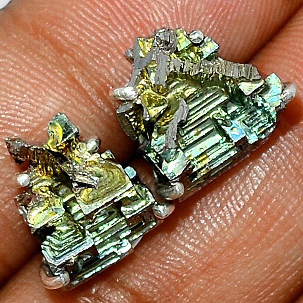 Серебряные серьги с висмутом, 1450СВ