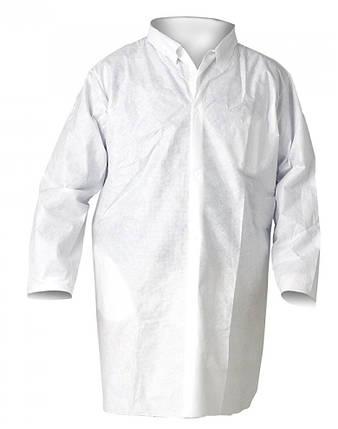 Халат лабораторный Vulkan полипропилен, белый (L), фото 2