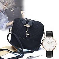 Женская сумка клатч Бэмби + Подарок часы D.W / Сумка Бемби