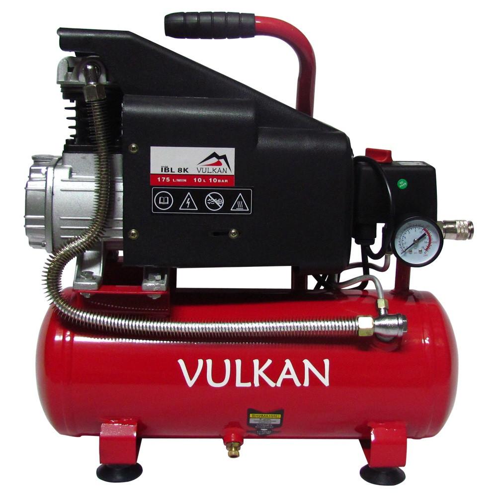 Компрессор воздушный VULKAN IBL8K 1,1 кВт 8 л