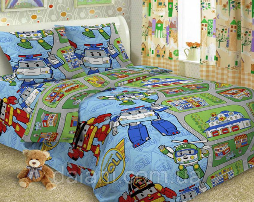 Детский комплект постельного белья из поплина