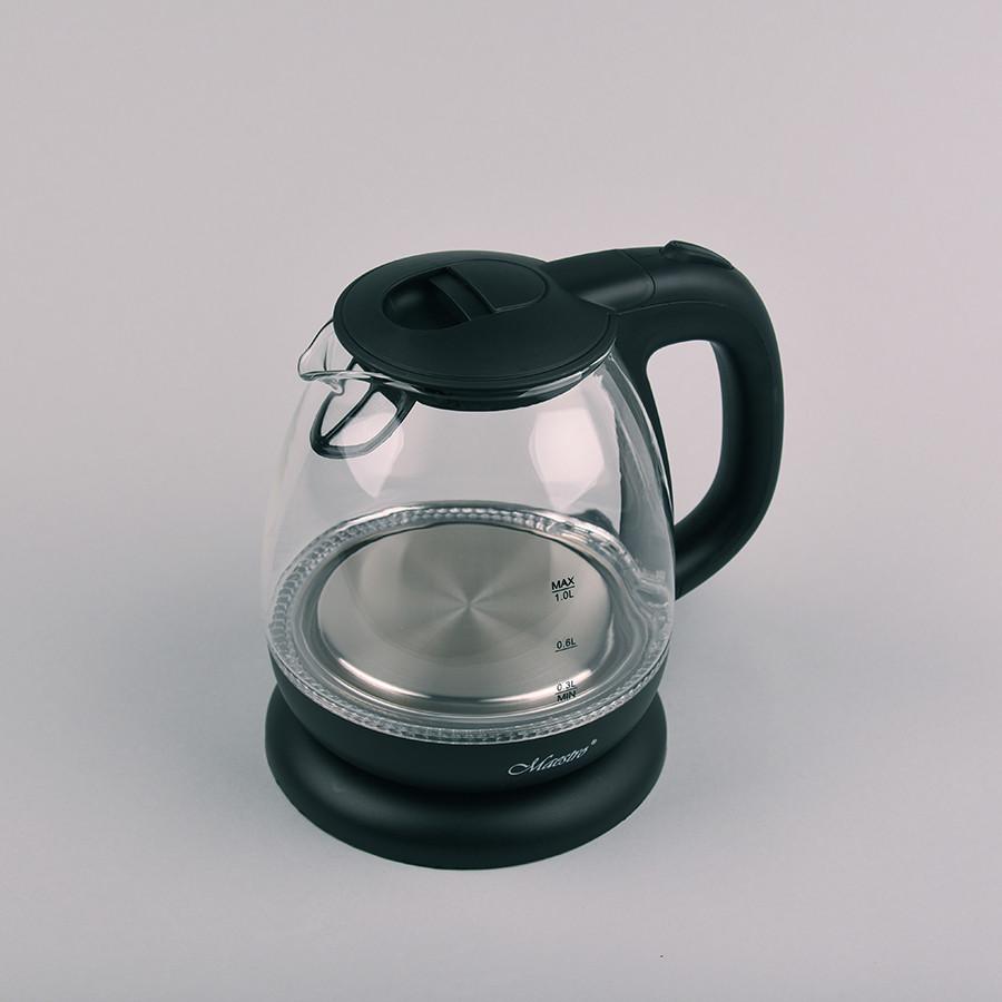 Электрический стеклянный чайник Maestro MR-055-Black
