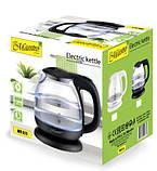 Электрический стеклянный чайник Maestro MR-055-Black, фото 3