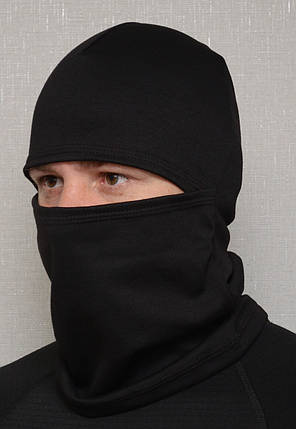 "Шапка-шарф-балаклава ""Французский трикотаж"" чёрная, фото 2"
