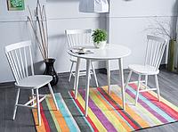 Стол обеденный  90х90 см Белый (LARSONB90), фото 1