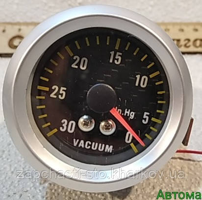 Эконометр вакуумметр разряжения автомобильный врезной стрелочный MPa под шланг (впуск коллектор) с подсветкой