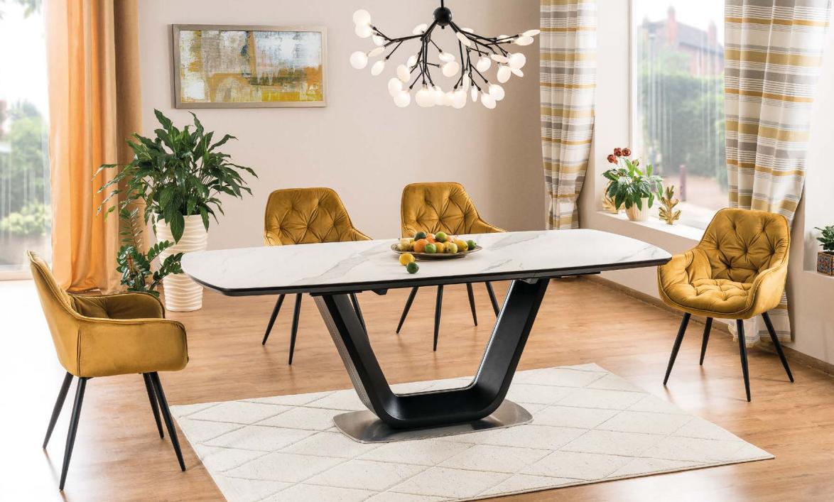 Стол обеденный Signal Armani Ceramic 90X160(220) см (ARMANIBC160)