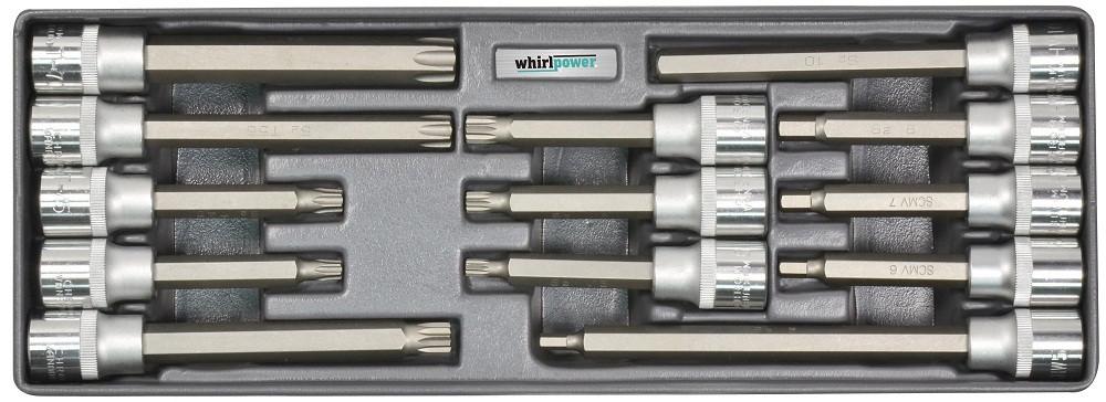 "Набор головок Whirlpower со вставкой Hex,Torx,Spline 1/2"" 13 ед. на ложементе"