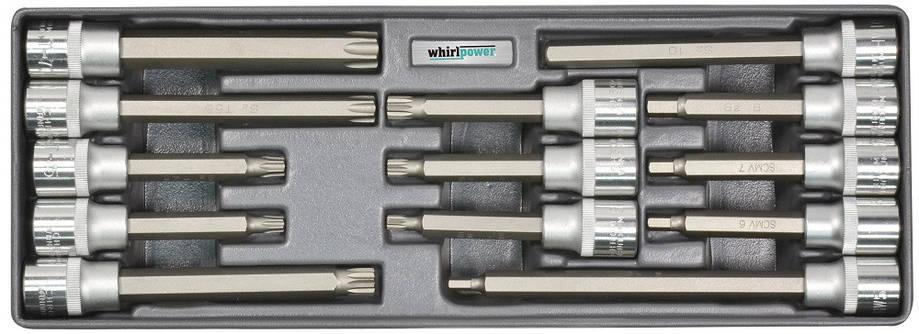"""Набор головок Whirlpower со вставкой Hex,Torx,Spline 1/2"""" 13 ед. на ложементе, фото 2"""