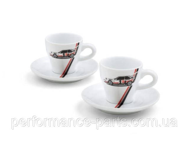 Набор чашек для эспрессо Audi Heritage Espresso Cups Set, White, артикул 3291800400 Официальная коллекция Audi