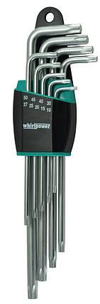 Набор ключей-звездочек TORX Whirlpower 158-1109 удлиненные 9 ед., фото 2