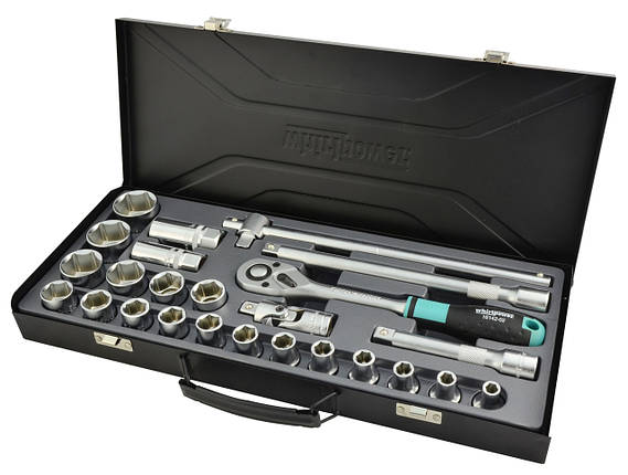 """Набор головок Whirlpower 1/2"""" 8-32 мм 25 ед. в металлическом кейсе, фото 2"""