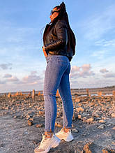 Женские голубые джинсы ткань стрейч джинс размеры 28, 29,30, 31 (от 46 по 54)