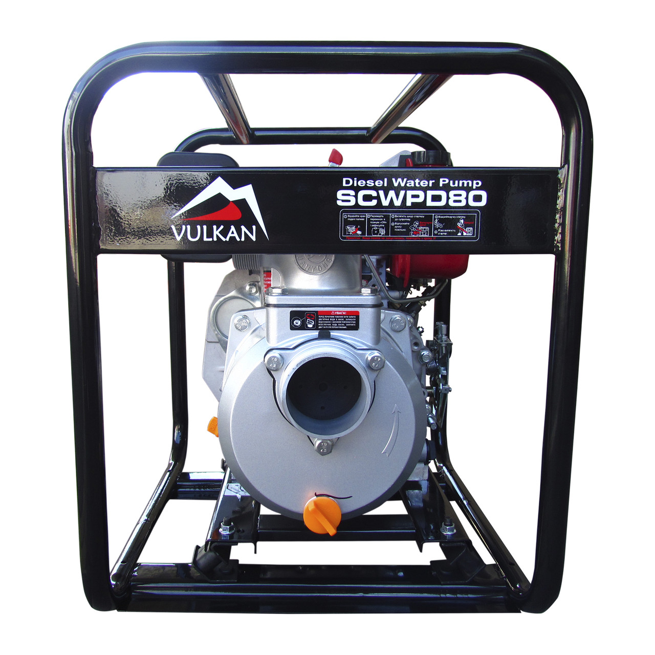 Мотопомпа дизельная Vulkan SCWPD80 для чистой воды