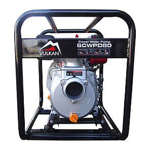 Мотопомпа дизельная Vulkan SCWPD80 для чистой воды, фото 2