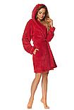 Короткий плюшевый халат L & L 2078 DORA, фото 2