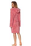 Короткий плюшевый халат L & L 2078 DORA, фото 3