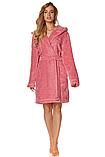 Короткий плюшевый халат L & L 2078 DORA, фото 4