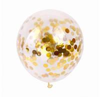"""Воздушный шарик баблс с золотым конфетти 20""""(50см) 2252"""