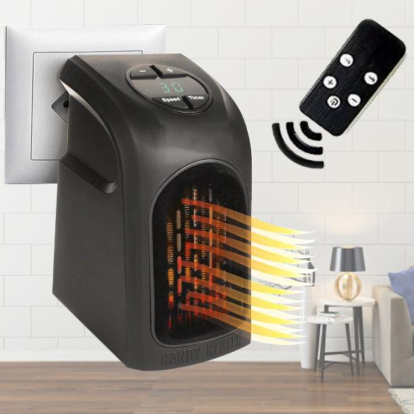 Портативный мини обогреватель 400Вт Handy Heater Черный + пульт