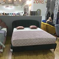 Двуспальная кровать Signal Liguria Velvet 160X200 Зеленый (LIGURIAV160ZCBR)