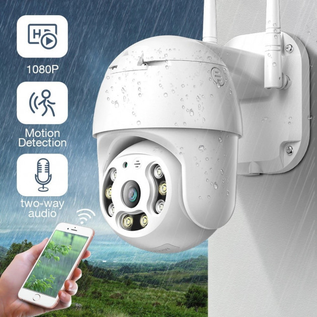 Уличная IP камера видеонаблюдения UKC CAMERA CAD N3 WIFI IP 360/90 2.0mp поворотная с удал. дост.