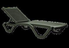 Шезлонг лежак  Myra темно-зелений