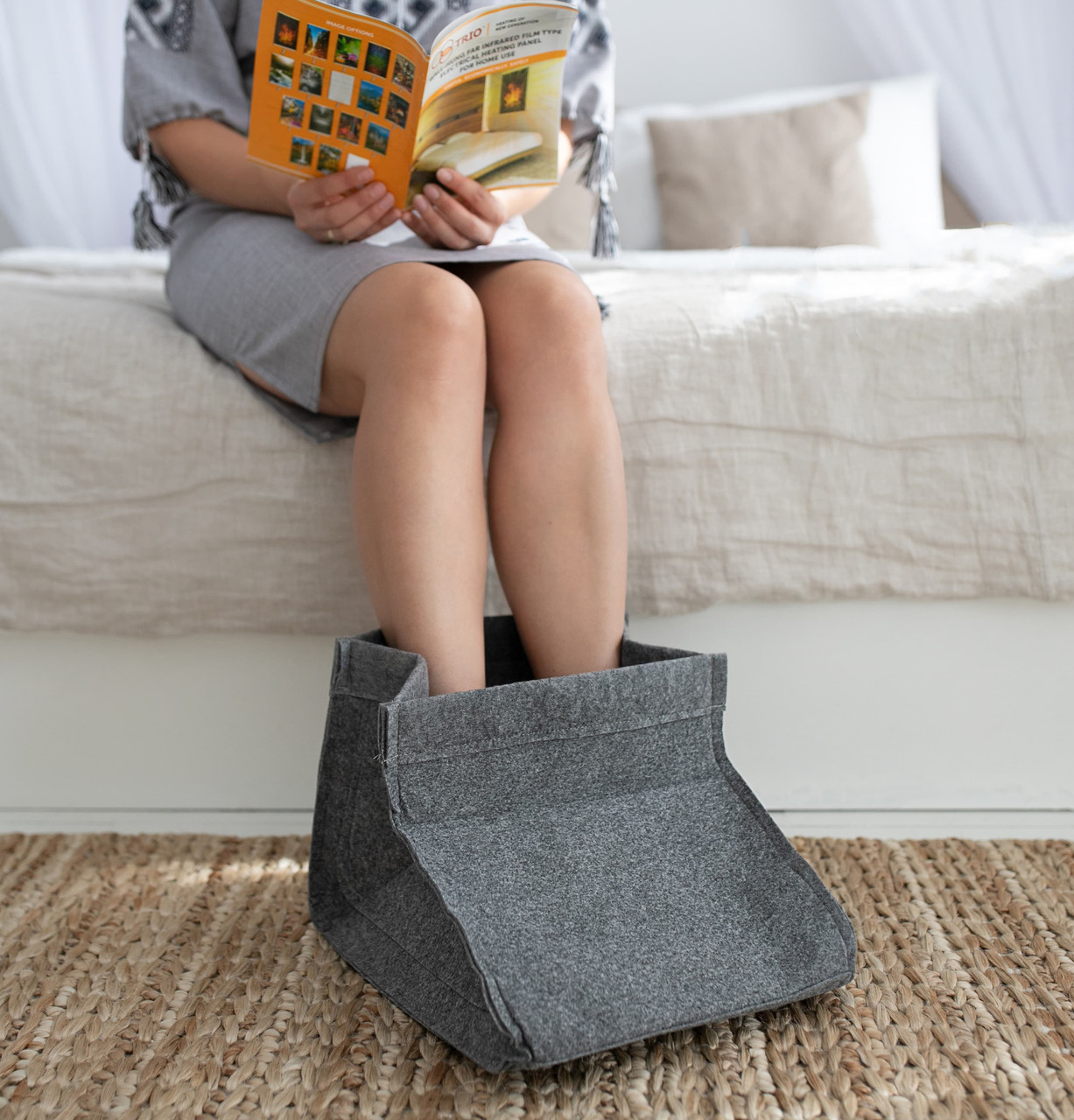 Электрическая грелка для ног Сапожок, Серый, Трио 02201, грелка для ног электрическая | грілка для ніг (ST)