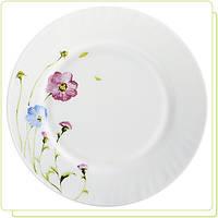 Тарелка десертная белая с принтом  Васильки 17,5 см (только по 6 штук)