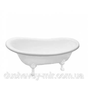 Акриловая ванна Atlantis C-3015 белые лапы (без перелива) 170х74х76