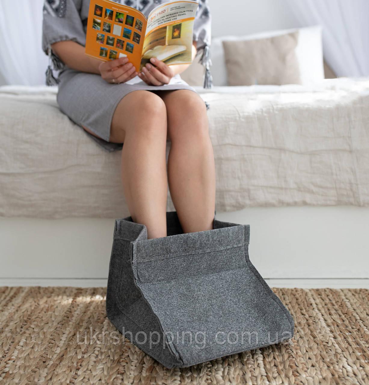 Электрическая грелка для ног Сапожок, Серый, Трио 02201, грелка для ног электрическая   грілка для ніг (SH)
